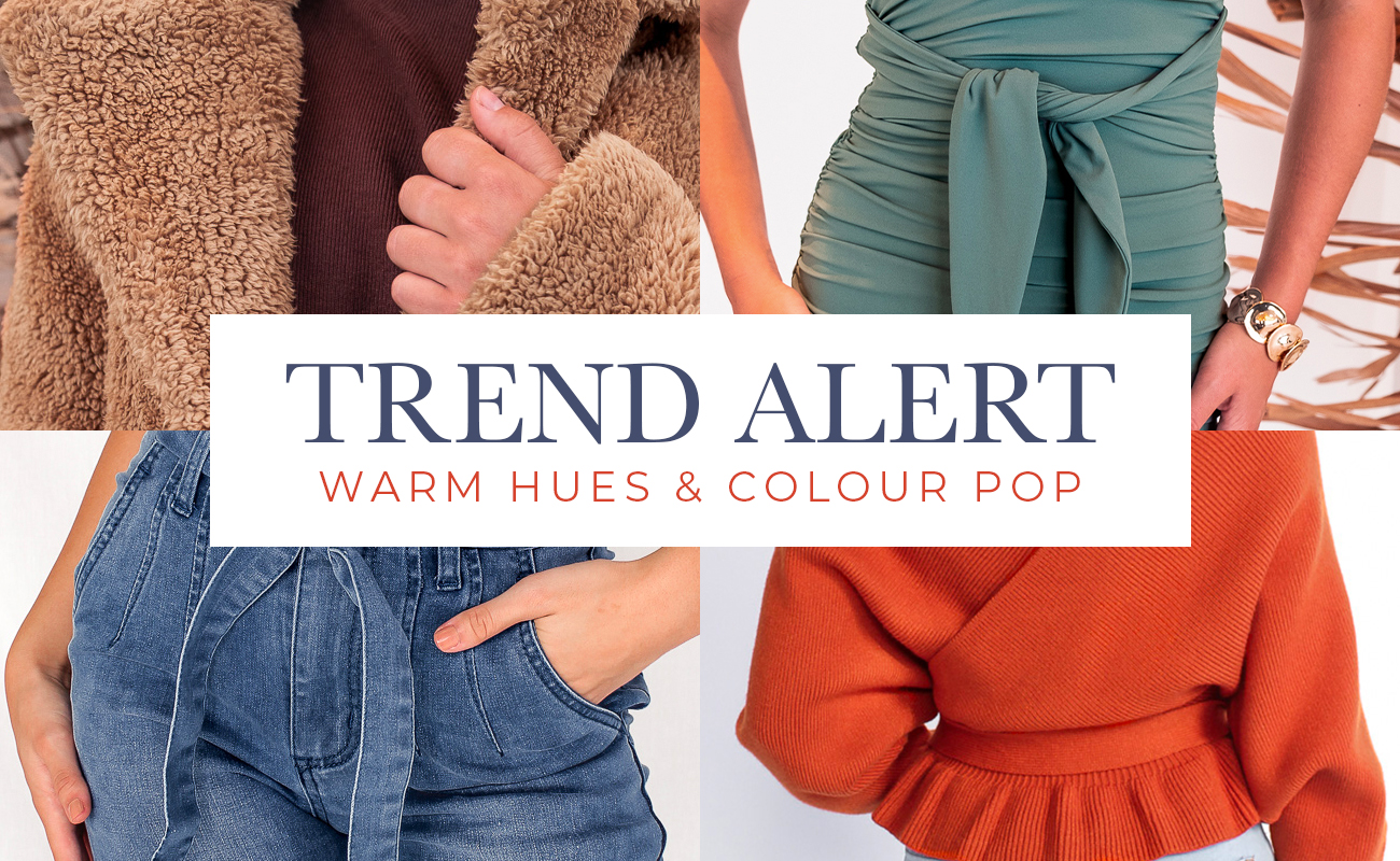 warm hues and colour pop website banner